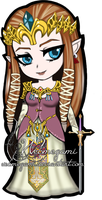 Chibi Princess Zelda by Webmegami