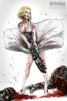 Marilyn x Gears by DoomCMYK