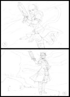 Final Fantasy XIV commission Comp Sketches by Taylor-payton