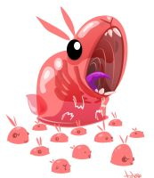 evil jelly rabbit by TOTOPO