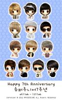 Happy 7th Anniversary SJ by MyCherishe
