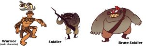 Characters for 'The Marked Warrior' by Riverlimzhichuan
