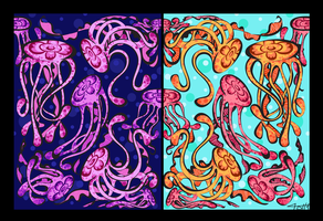 Jelly Much? Damask Fabric by labrattish