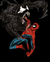 Venom vs Spiderman by ChocolateBiscuits