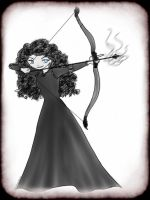 Nightmare Merida by civil-twilight