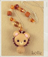 Clay Flurry Lion by LolleBijoux