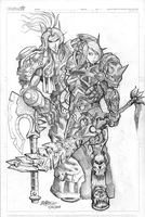 Blood Elf Paladin and Deathknight by ZOMBGIEF