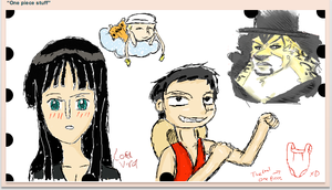 One Piece Iscribble slam by Lordviral