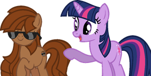 Barrel and Twilight Sparkle by Laser-Pancakes