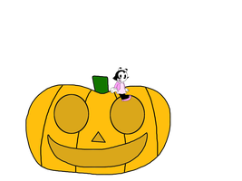June Bug with a pumpkin by MarcosLucky96