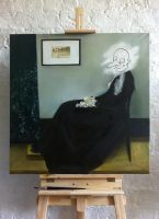 Whistler's mother by Saulesleja