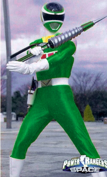 Green space ranger with weapon by 619rankin