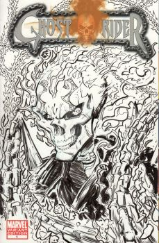 Ghostrider - Sketch Cover by josesartcave