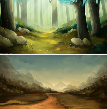 Landscape Studies I by MapleSpyder