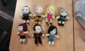 7 Deadly Sins OC plushies by kisadora101