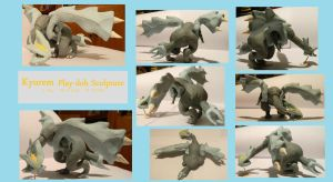 Kyurem Play-doh Sculpture by tayba