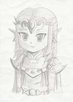 Oracle Princess Zelda in pencil by Icy-Snowflakes