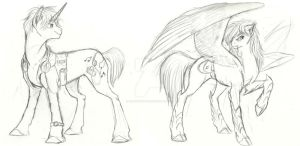 Pony Commissions: Prelim set 5 by Earthsong9405