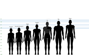 Hidden Legacy Height Chart, 1:12 scale by James-R-MacAdie