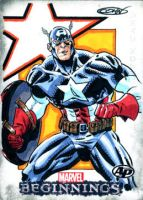 Marvel AP Sketchcard Captain America by ScottCohn