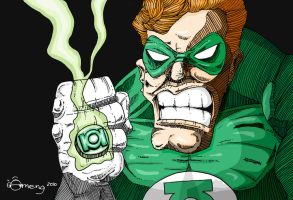 Green Lantern Doodle by Dinuguan