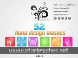 FLORAL DESIGNS BRUSHES by illustratorcs6