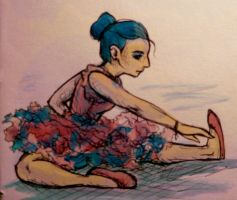 Pink and Blue Ballerina by CarriePotter