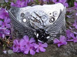 Steampunk belt buckle by Hiddendemon-666