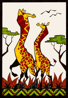 Giraffes african style by obeythekiwi