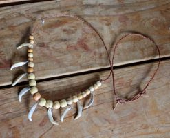 Custom fox tooth necklace by lupagreenwolf
