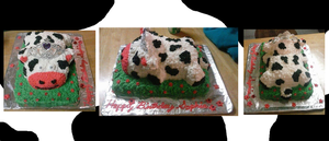 Princess Cow Cake by LauraLynnTreasures