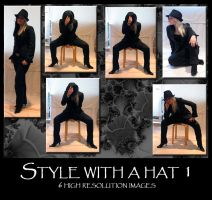 Style with a hat 1 by Mithgariel-stock