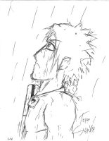 Sasuke in the Rain by kyuuketsukigirl-15