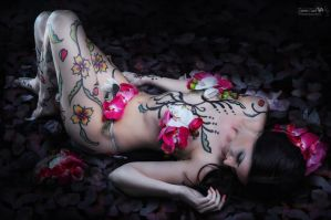 LAY ME DOWN ON THE BED OF PETALS by abzmed