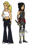 TMNT OC's - Brooke and Ayane by becky016