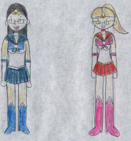 G: angiwu and me as Sailor Soliders. by PRTArtist