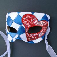 Knave Of Hearts Mask by merimask