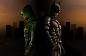Batman And Arrow Part 5 by Hawkmccloud