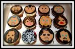 Sons Of Anarchy Cupcakes by gertygetsgangster