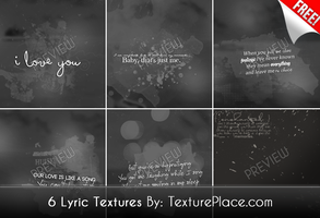 6 Lyric Textures by textureplace