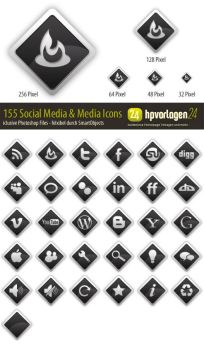 30 Social Media Icons - PSD by hpv24sabine