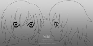 Yuki Head Model Template 01 by johnnydwicked
