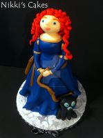 Merida (Brave) Cake by Corpse-Queen
