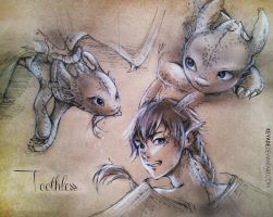 Toothless Sketches by Keyade