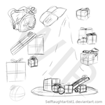 Presents Clipart WIP by selftaughtartist1