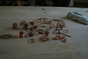 Day 4: Copper Alloy Wire Work Hoard by NightPhoenixArt