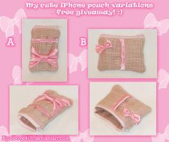 Free giveaway cute pink iPhone pouch by BlueDove415