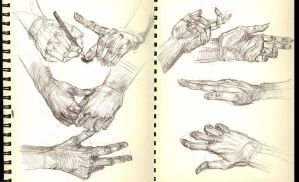 Hand sketches 2 by Ezekiel-Black