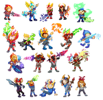 Warlords Pixel Collection by DragonWarriorKirby