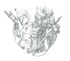 Bounty Hunters - Pencils by jpc-art